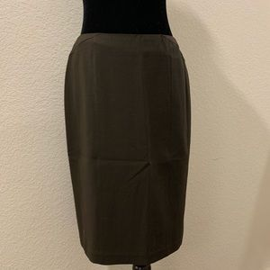 Chocolate Brown Pencil Skirt